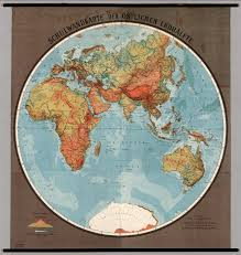Blank Hemisphere Map by Eastern Hemisphere Physical David Rumsey Historical Map