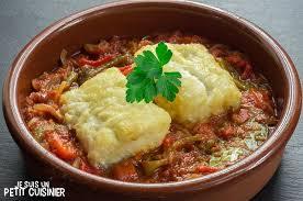 morue cuisine recette de morue à la sauce tomate et aux poivrons rôtis cuisine
