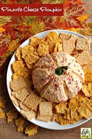 thanksgiving cheese ball recipe pimento cheese pumpkin this mama cooks on a diet