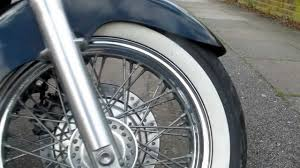 Double White Wall Motorcycle Tires Honda Shadow Vt750 Ace C2 Youtube