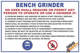fm1 bench grinder safety rules sign signs4safety