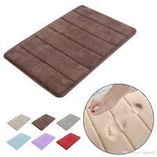 Soft Bathroom Rugs by Stylish Design Coral Velvet Memory Foam Non Slip Back Rug Soft