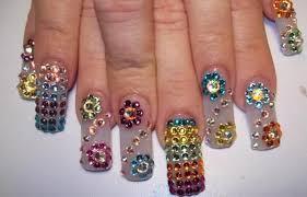 imagenes de uñas acrilicas con pedreria diseno unas piedras sinaloa diamantes jpg