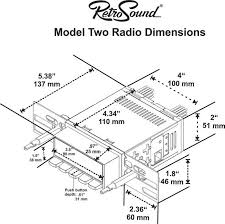 1968 mustang dimensions soundlabs retrosound model two radio ford mustang 1967 1968