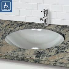 oval undermount bathroom sink decolav 1129u series 12mm tempered glass oval undermount bathroom sink