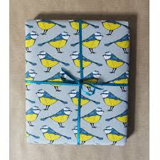 bird wrapping paper luxury blue bird gift wrap by martha and hepsie