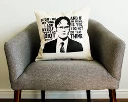 the office tv show jim halpert quote pillow home decor the