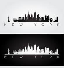 new york skyline silhouette royalty free vector image