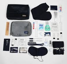 united airlines extra baggage inside the first class vanity bags that reveal how the other half