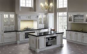 apartment classic white victorian kitchen design with white