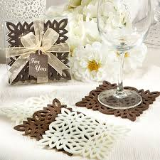 coaster favors lace pattern felt coasters for wedding and bridal shower favors