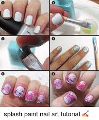 Nail Art Meme - 2 6 3 splash paint nail art tutorial meme on me me