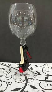 yurana black heel hand blown wine glass u2013 scarletts home decor