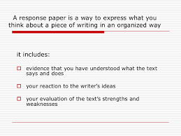 response essay outline how to write a reaction response paper