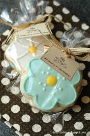 Baking Favors by I Baking Flower Sugar Cookies With Royal Icing As