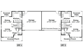 1st floor planduplex plans with garage in middle duplex rear