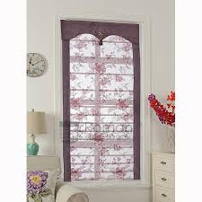 Curtain Shade Floral Pattern Fan Shaped Shade Curtains