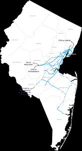 Nj Train Map System Map Conrail