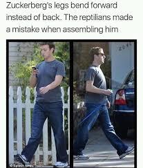 Reptilian Meme - the reptilians made a mistake when assembling mark zuckerberg