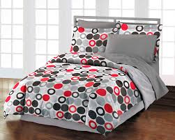 Comforter Ideas Boys And S by Red Black U0026 Gray Geometric Dots Bedding Teen Boy Or Comforter