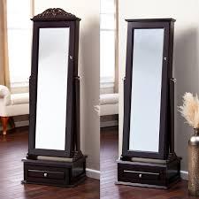 Mirror Armoire Wardrobe Furniture Charming Cheval Mirror Jewelry Armoire Ideas