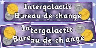 bureau de changes space travel agency bureau de change display