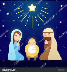 christmas nativity scene baby jesus mary stock vector 332536964