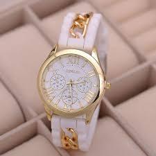 bracelet watches ebay images Fashion geneva women 39 s watches silicone chain analog quartz wrist jpg