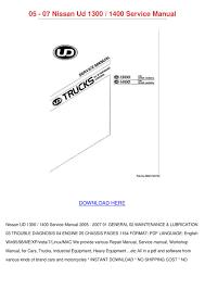 nissan ud truck repair manual 100 images