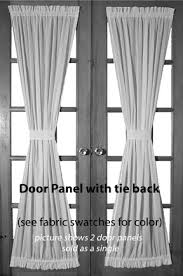 French Door Valances Black French Door Curtains 16153