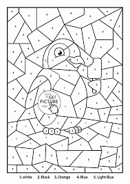 color by number penguin coloring page for kids education coloring