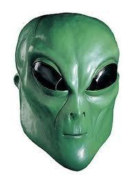 green alien mask alien halloween masks