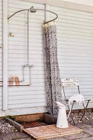 Outdoor Shower Curtains Simple Outdoor Shower With Curved Shower Curtain Rod D Outdoor