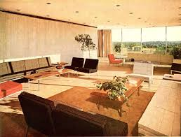 simple wooden table on carpet mid century modern room divider