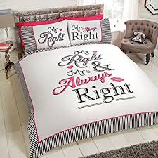 His And Hers Items His And Her Side Black Duvet Quilt Cover U0026 Pillow Cases Set