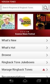 ringback tones for android verizon tones apk free entertainment app for android