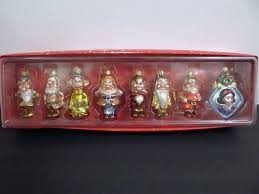disney store princess glass ornament set snow white