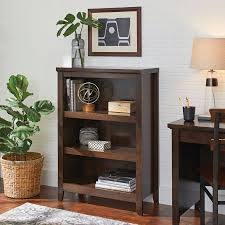 better homes and gardens parker 3 shelf bookcase estate toffee