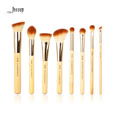 Professional Makeup Tools Jessup Brand 8pcs Beauty Bamboo Professional Makeup Brushes Set