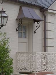Small Awnings Over Doors Small Copper Roof Over Doorway Faux Finish Black Lantern Lights
