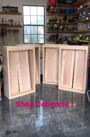 how to build bottom cabinets diy cabinets for a garage workshop or craft room shanty