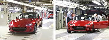 mazda car line mazda mazda starts production of all new mazda mx 5 news releases