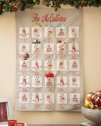advent calendar embroidered fabric advent calendar balsam hill