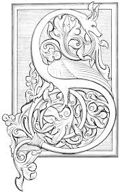 illuminated letters coloring pages virtren com