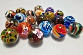 glass sphere gigant rainbow balls colour glass balls and small