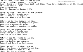 methodist prayer methodist hymn god of that hear st the prayer lyrics with pdf