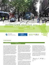 public spaces public life downtown seattle gehl cycling