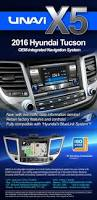 oem integrated navigation system for hyundai tucson 2016