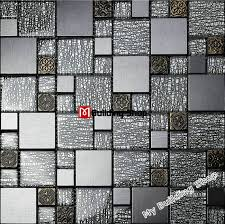 aluminum kitchen backsplash grey black glass wall tiles kitchen backsplash ssmt308 resin