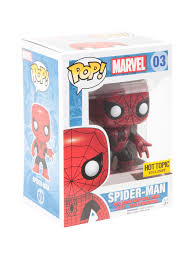 spirit halloween spiderman funko marvel pop spider man red u0026 black suit vinyl bobble head